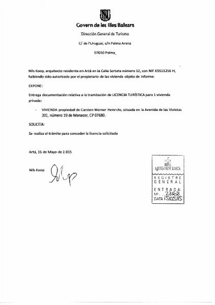 Vermieter Lizenz, offiziell, Mallorca Urlaub
